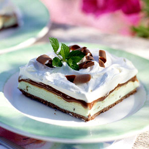Chocolatey Frozen-Mint Dessert