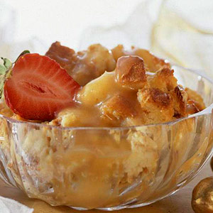 Cinnamon Bread Pudding with Butter Sauce