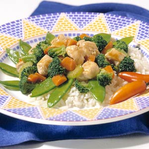 Four-Vegetable Chicken Stir-Fry