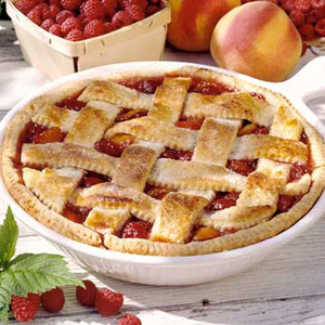 A Peach of a Raspberry Cobbler