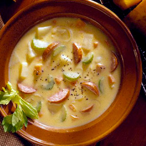 Hot-Stuff Kielbasa-Cheese Soup