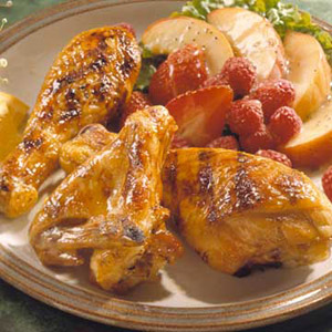 Grilled Chicken with Honey Glaze