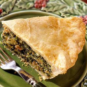 Sausage-and-Spinach Pie