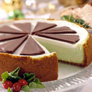 Mint-Chocolate Cheesecake