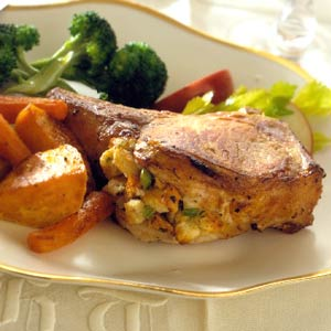 Season's Best Stuffed Pork Chops