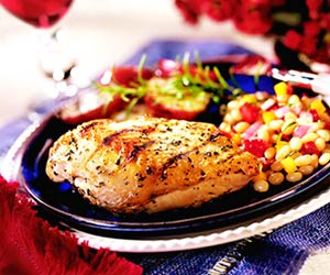 Wine-Marinated Grilled Chicken Breasts