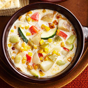 Three Sisters Corn-and-Chili Chowder