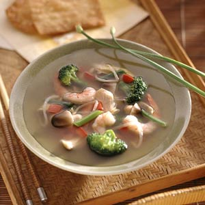 Asian Chicken and Shrimp Soup