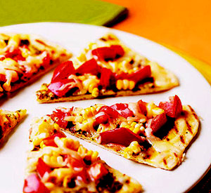 Rustic Grilled Pizza with Fresh Corn, Tomatoes, and Basil