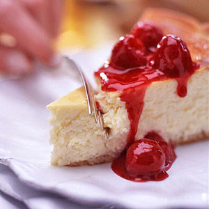 Raspberry-Topped Cheesecake