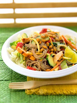 Thai Chicken and Soba Noodle Salad