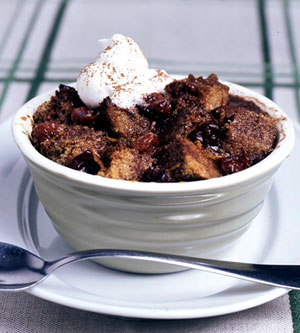 Cherry Chocolate Bread Puddings