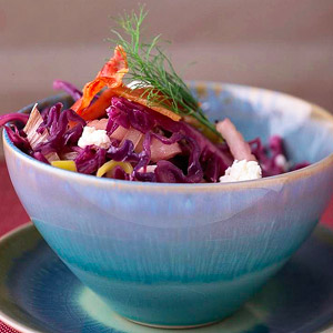 Pancetta-Feta Red Cabbage