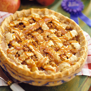 Caramel Apple Crunch Pie