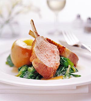 Roast Rack of Lamb Cider Glaze