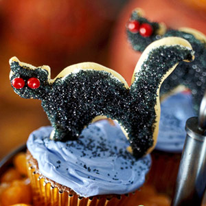 Fudgy Brownie Cat Cupcakes
