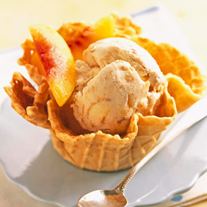 Peach Pie Ice Cream