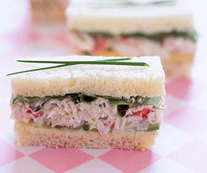 Crab, Avocado and Watercress Sandwiches