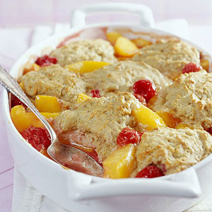 Peach-Berry Cobbler