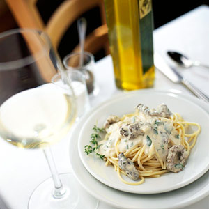 Morel Mushroom Cream Sauce with Pasta