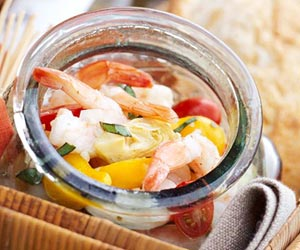 Shrimp Marinated with Artichokes and Tomatoes