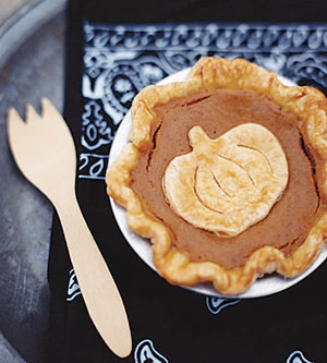 Individual pumpkin pie