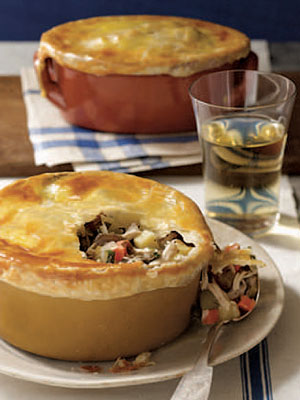 Leaner chicken potpies