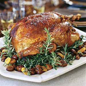 Roast Turkey with Apricot-Rosemary Glaze and Giblet Gravy