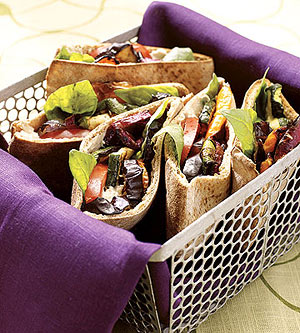 Veggie Pitas with Cashew Spread