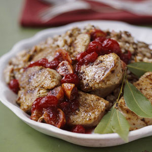 Pork Medallions with Cranberry Chutney
