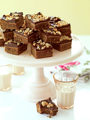 ?40s Peanut Butter Brownies