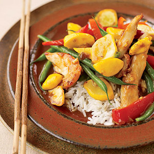 Sesame Ginger Chicken and Vegetable Stir Fry