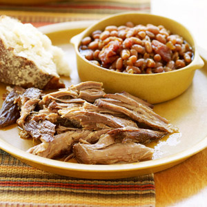 Pulled Pork With Cider-Baked Beans