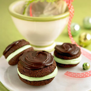 Ultimate Chocolate-Mint Cookie Sandwiches