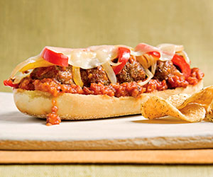 Open-Faced Meatball Subs