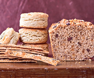 Olive, Oat, and Whole-Wheat Bread