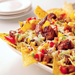 Spicy Shrimp Nachos