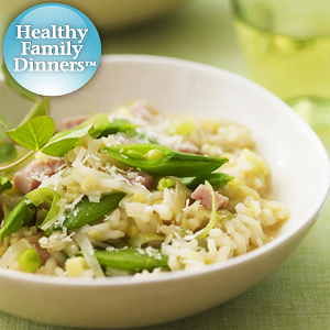 Risotto with Sugar Snap Peas and ham