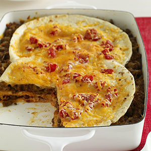 Beef and Bean Tortilla Casserole