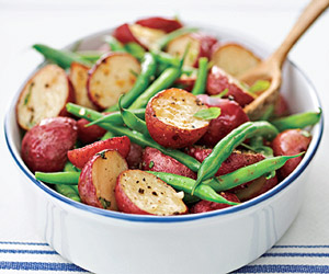 Red Potato and Green Bean Saut�