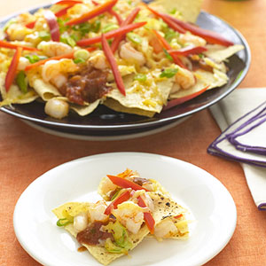 Easy Microwave Shrimp Nachos