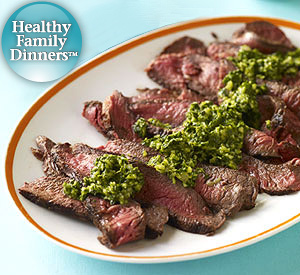 Beef & Chimichurri Sauce
