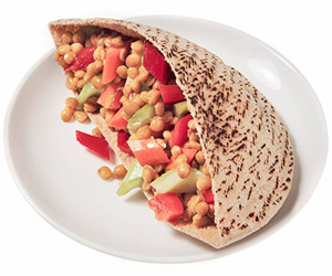 Marinated Garden Lentil Salad Pita