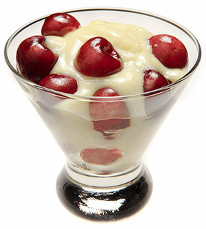Pudding With Cherries