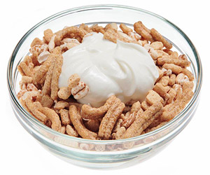 Cereal and Yogurt