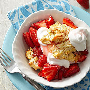 Strawberry Black Walnut Shortcakes