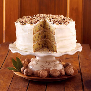 Hickory Nut Cake with Cream Cheese Frosting