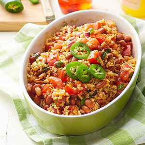 Spicy Rice and Red Bean Salad