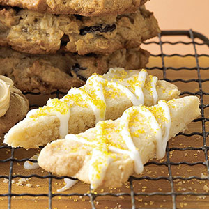 Lemon on Lemon Shortbread Cookies