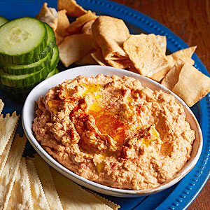 Roasted Red Pepper-Chipotle Hummus Dip